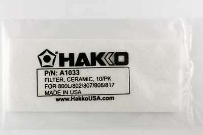 Hakko A1033 Ceramic Filter 10 Pack for 802/808/800L/707/706/807/809/817