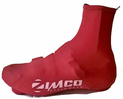 Zimco Lycra Cycling Bicycle Shoe Cover Booties Overshoes with Rear Zipper Red