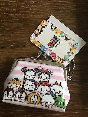 Disney Tsum Tsum Coin Purse Official Merchandise with Mickey Mouse and Princess