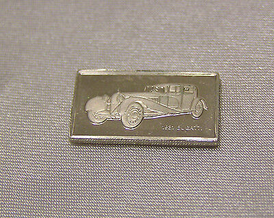 SOLID SILVER MINI INGOT of the BUGATTI 1931