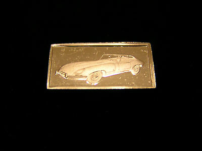 SOLID SILVER INGOT of the JAGUAR 1961