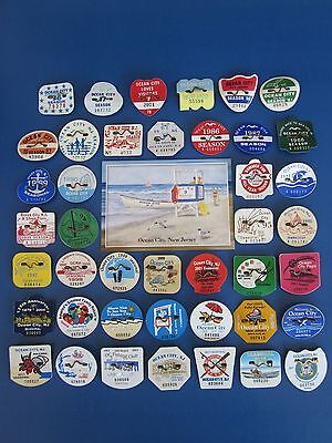 Complete  Set  42   Year   Collection Ocean City, New Jersey Beach Badges/tags