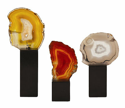 3 Piece Fergie Agate Slice Sculpture Set ARTERIORS Home FREE SHIPPING