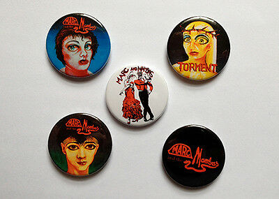 Set Of Five Marc And The Mambas Badges Soft Cell Marc Almond [25mm 1inch]