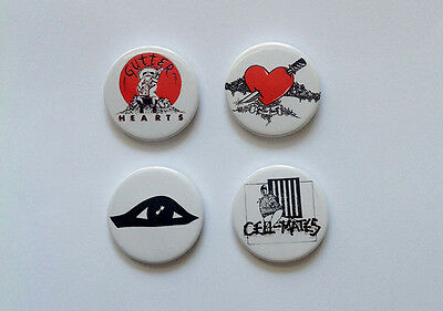 Set Of Four NEW Marc Almond Soft Cell Badges [25mm 1inch]
