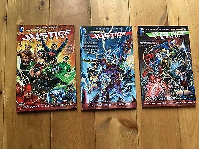 DC Trade PaperBack LOT of 3 Justice League The New 52 Volumes 1, 2 & 3