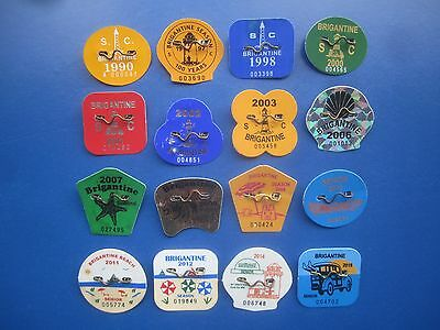 Rare   16   Year   Collection   Brigantine   New   Jersey   Beach   Badges/tags