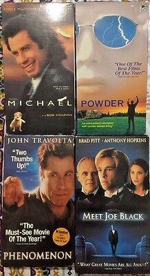 Lot of 4 VHS - Travolta Pitt - Mix of Fantasy Angel Death Romance Comedy Drama