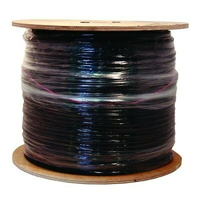 Southwire Black RG6 18 AWG Quad Shield Coaxial Cable 1000 ft. Indoor/Outdoor