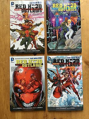 RED HOOD AND THE OUTLAWS NEW 52 TPB comic book (LOT OF 4) # 1- 4