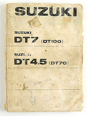 Suzuki DT7 DT4.5 outboard motor illustrated parts book 1975
