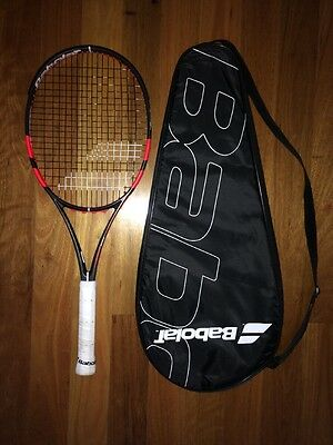 BABOLAT Pure Strike 100 Adult tennis racquet grip Sz 4 1/4 near new condition