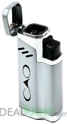 Cao Quad Flame Adjustable Refillable Cigar Torch Lighter Bullet Cutter