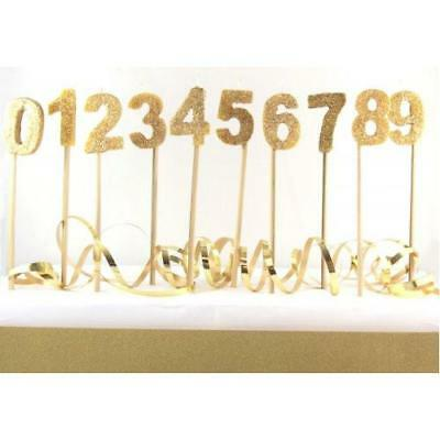 Gold Number Candles Zero to Nine Party Parties Supplies
