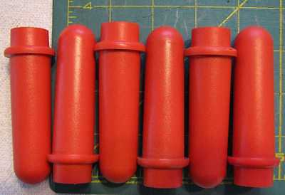 Drucker 614 642 centrifuge tubes shields red 17x100mm set of 6 part# 7713031