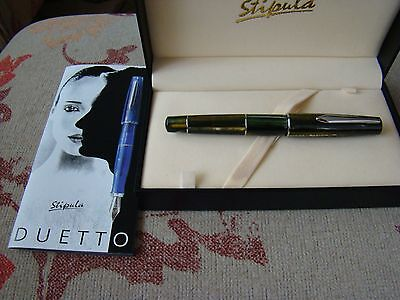 Stipula Duetto Seaweed Green A3935 Fountain Pen UNUSED