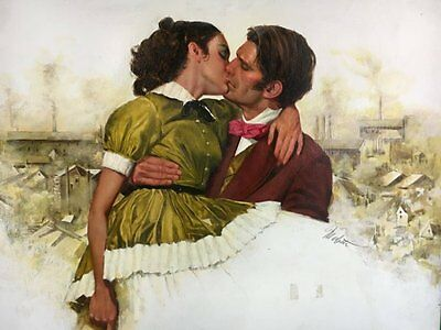 Romance Novel Mills of Colne  Paperback Cover Painting by Louis Marchetti