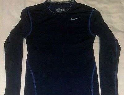Nike Pro Combat Baselayer jersey Top *Navy* *Small Mens* Compression
