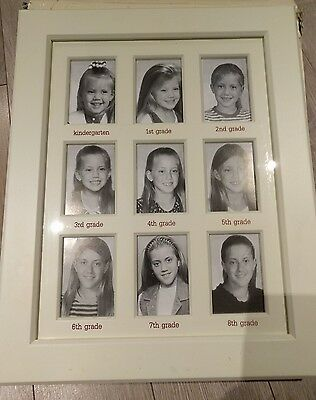 Pottery Barn Kids Silver Leaf First Year Frame Photo USED in box