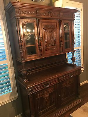 "1900's French Renissance Buffet. 90 1/2 "" tall x 59"" wide.  I have all the keys"