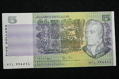 1979 Australian $5 Paper Note with Printing Error (Colour) (Knight / Stone)