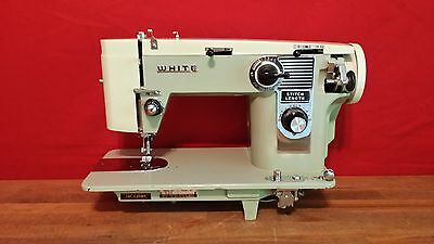 HEAVY DUTY WHITE industrial strength sewing machine for LEATHER & UPHOLSTERY