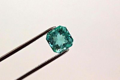 8.5mm 3.20 TCW Square Cut Natural Colombian Emerald Loose Gemstone