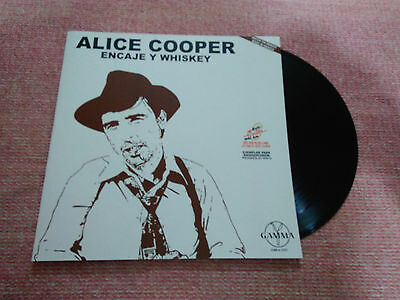 """Alice Cooper """"lace And Whiskey"""" Mexico Promotional Rare Ps Mexican Issue Radio"""