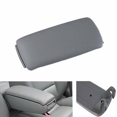 For Audi A6 C5 2001-2006 A4 S4 Grey PU Leather Armrest Console Center Cover Lid