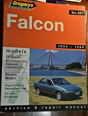 Car workshop manual 1994 - 1996. Ford Falcon.