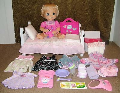 2006 Hasbro Baby Alive Soft Face Doll  Food Clothes Accessories & Bed
