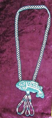 Northwest Coast  Beaded Salmon Necklace  ( likely Benson Young, Puyallup tribe )