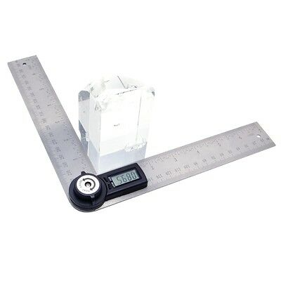 2 In 1 Digital Angle Ruler Protractor 360° 200mm Electronic Meter Ruler new