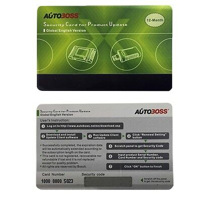 AUTOBOSS V30 Elite/V30/PC-MAX 1 Year Update Card
