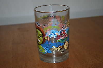 2007 Shrek the third - Far Far Away - 5 1/8 inch Heavy Drink Glass -NICE!!