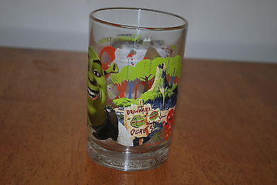 2007 Shrek the third - Beware the Ogres - 5 1/8 inch Heavy Drink Glass -NICE!!