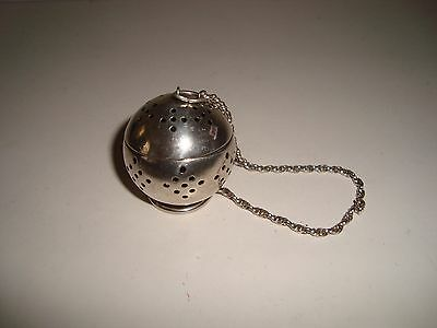 Antique Sterling Silver Tea Ball Infuser Strainer