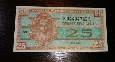 Series 521 U.S. MPC 25 Cents NICER ESTATE NOTE