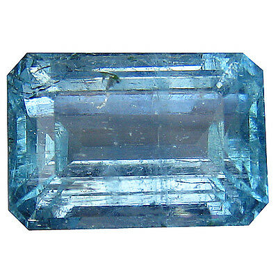 6.47 Ct 100% Stunning Rarest Natural Good Luster Aquamarine Octagon Gemstone