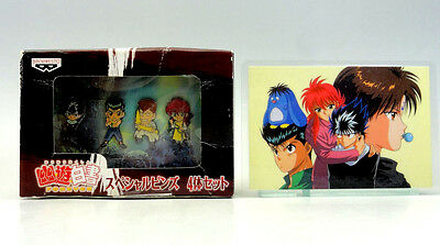 YU YU HAKUSHO Forever Special Pins Not For Sale BANPRESTO & MOVIC Laminated Card