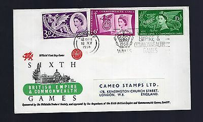 Great Britain 1958 Empire & Commonwealth Games philatelic cover see scans x2