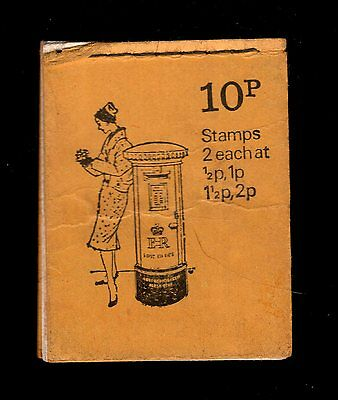 Great Britain 1973 stamp booklet with some stamps see scans x7