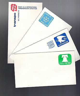 USA circa 1971 unused pre-paid embossed covers inc White House see scans x2