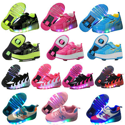 Kids LED Shoes Roller Skates Wheels Shoes Women Men Adult Girls Boys Sneakers