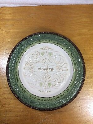 Grasslands Road Celtic Traditions  Irish Blessing Plate//Without Stand