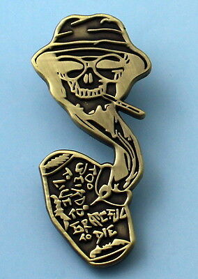Fear Of Loathing Pin Gonzo pin Hunter S.Thompson too weird to live to die