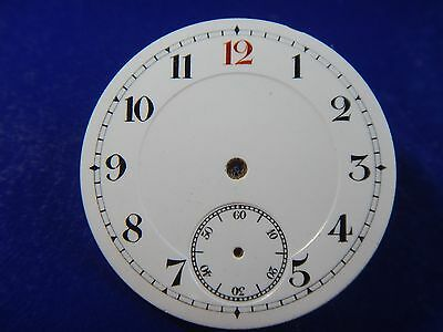 New   PORCELAIN Watch Dial 1920's Pocket Watch Trench Watch Red 12