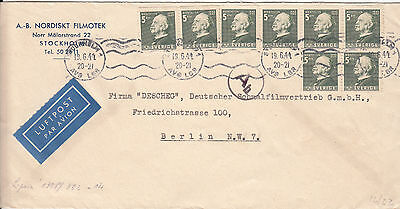 Sweden to Germany 19.6.1944 - nice airmail cover - no censorship!
