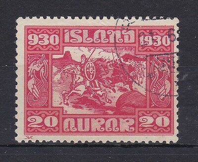 BD375) Iceland 1930 20a Red & Pink, nice very fine used example