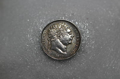 Uk Gb 6 Pence 1820 Rare High Grade Silver Better On Hand A64 #k1121